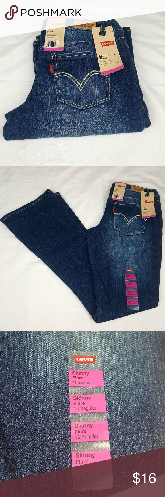 0ad21733362 Levi Skinny Flare Girls Size 16 Regular Jeans Brand new Levi's Jeans with  tags still attached
