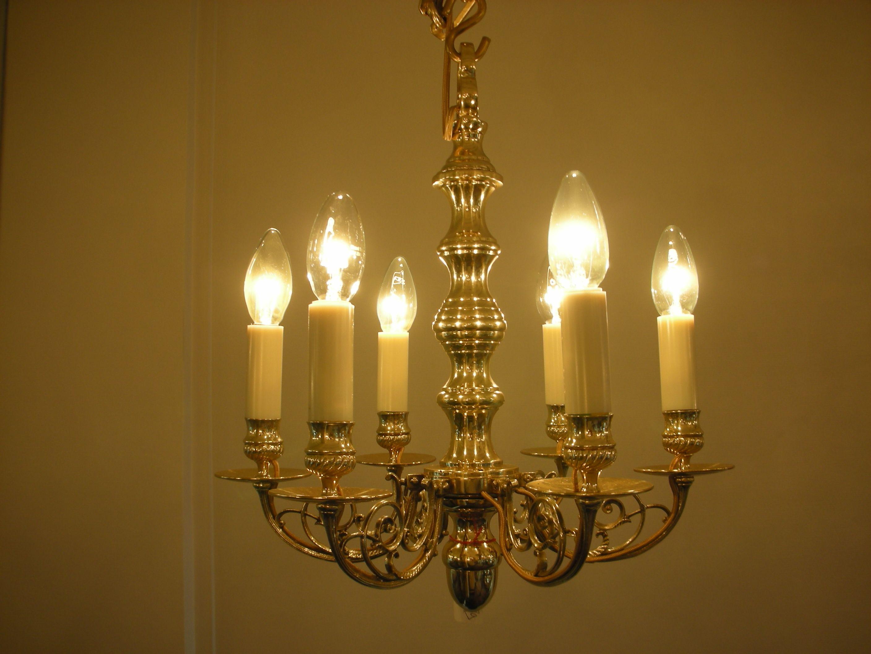 Lustre Hollandais N10589 6 Lumières Hauteur 43 Cm Largeur 40 Cm