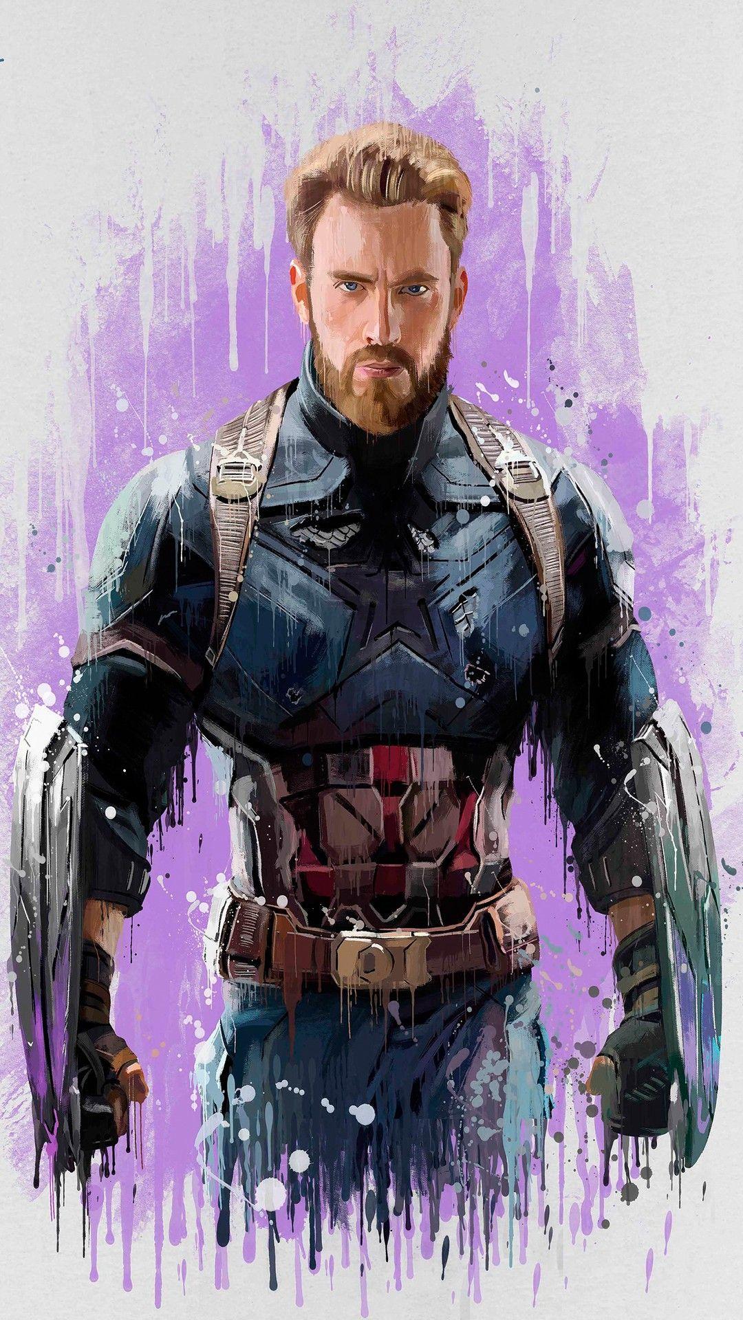 Steve Rogers Captain America Avengers Infinity War 2018