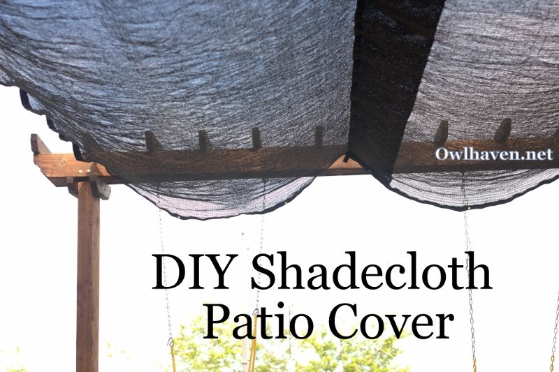 How To Add A Shadecloth Cover To A Patio