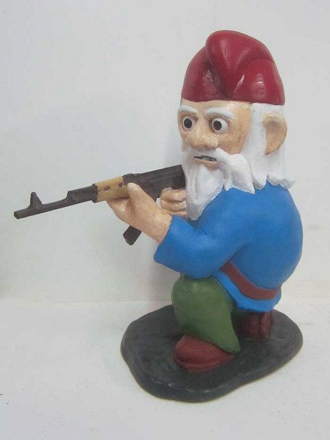 Combat Garden Gnome (in Kneeling Position With AK 47). $57.00, Via Part 74