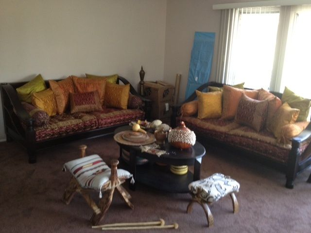 Living Room Daybed Set Moroccan Coffee Table Tara Design Los Angeles Ca