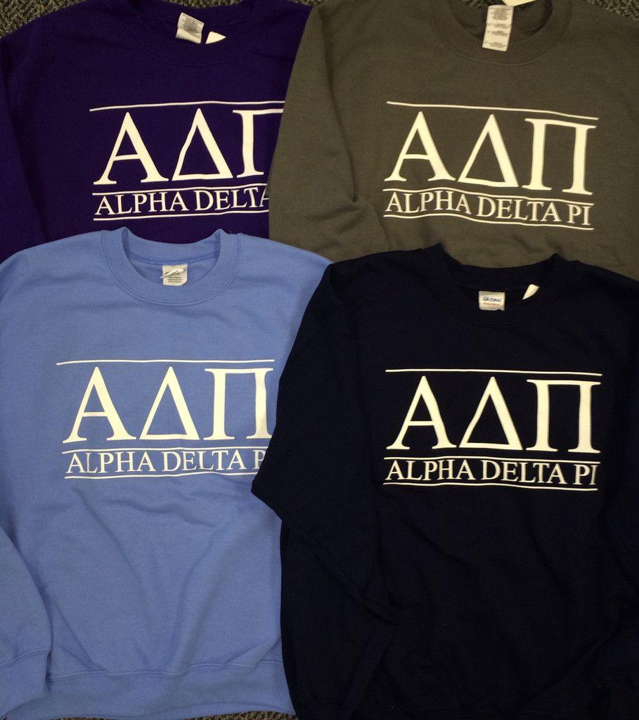 Letter Sweatshirt Alpha Delta Pi Shirt Alpha Delta Alpha Delta Pi [ 1024 x 909 Pixel ]