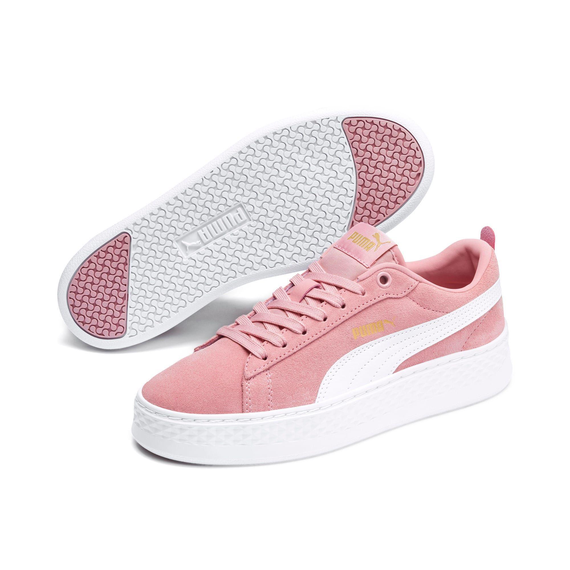 maratón Pelágico violencia  PUMA Smash Platform Suede Women's Trainers in Bridal Rose/White/Gold size  6.5 #bridal #platform #sma… | Puma shoes women, Pink puma sneakers, Casual  sneakers women