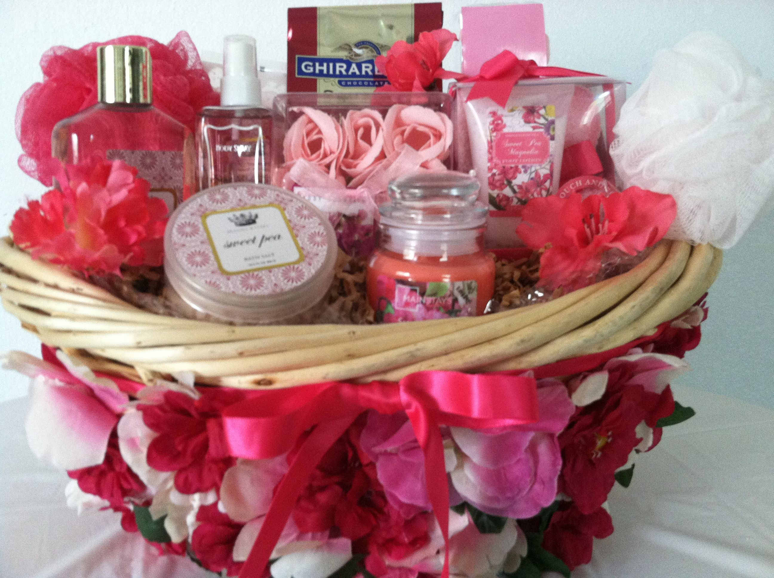 """One of a kind handcrafted Spa Gift Basket Sweet Pea """"Item"""