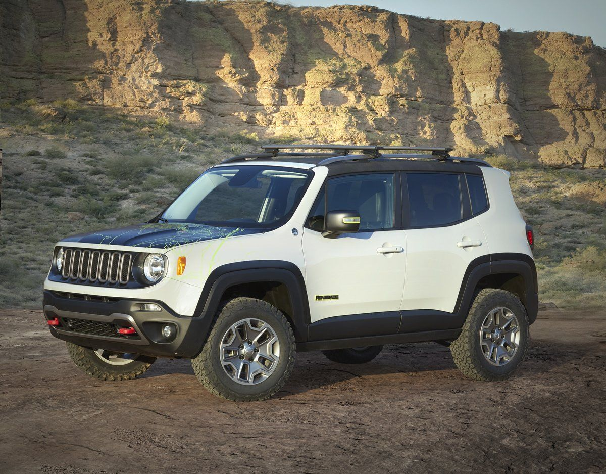 Ride The New All Terrain Rims And Tires With The Renegade Commander Jeep Renegade Jeep Concept Easter Jeep Safari