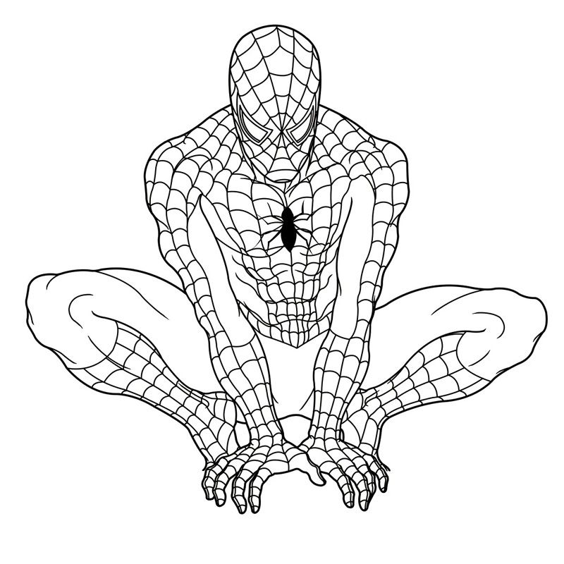 Top 20 Spiderman Coloring Pages Printable httpprocoloringcom