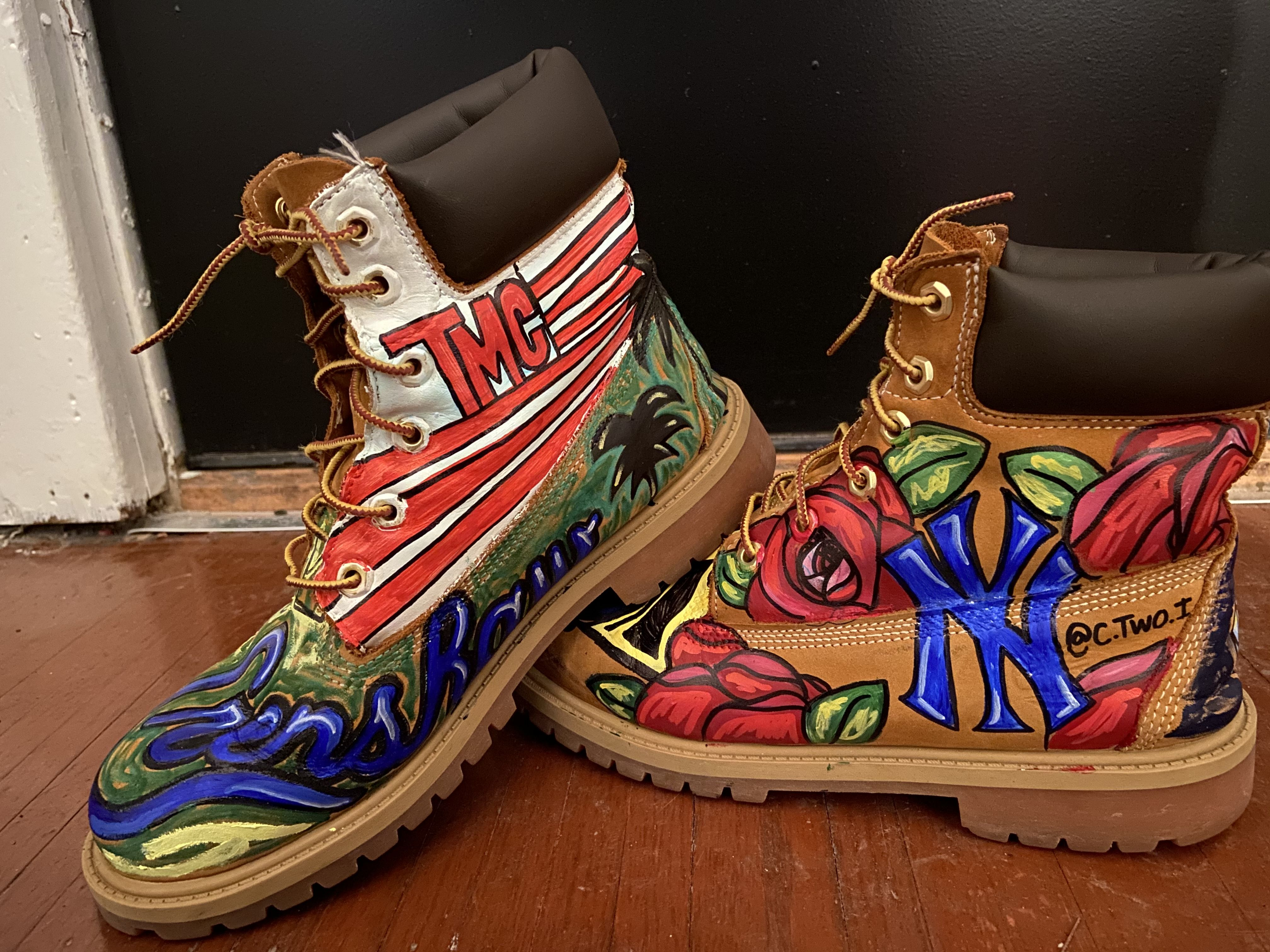 Hand Painted Timberlands in 2020