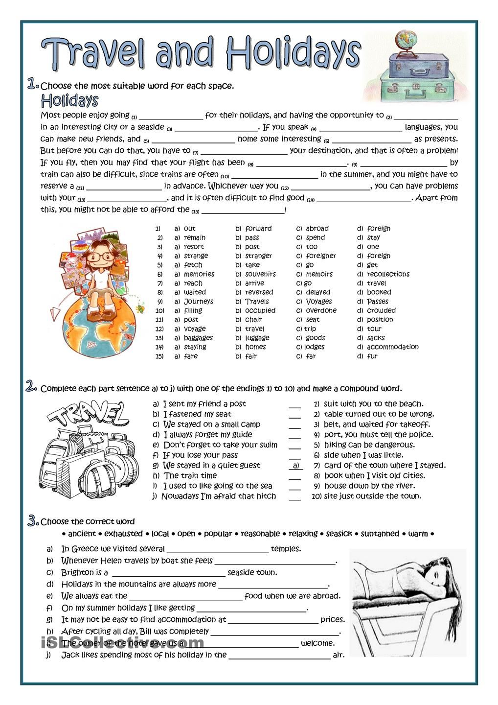 time in spanish worksheets