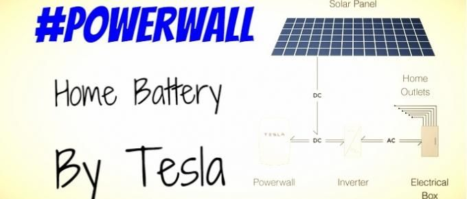Powerwall home battery, by Tesla