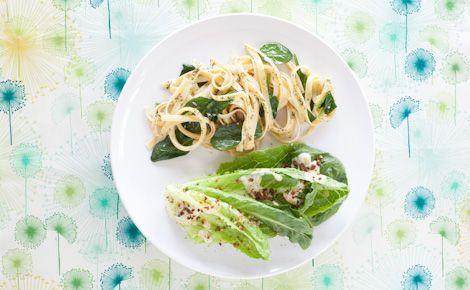 Epicure's Garlicky Linguine ...can slice zucchini w/ ceramic slicer to use instead of linguini noodles