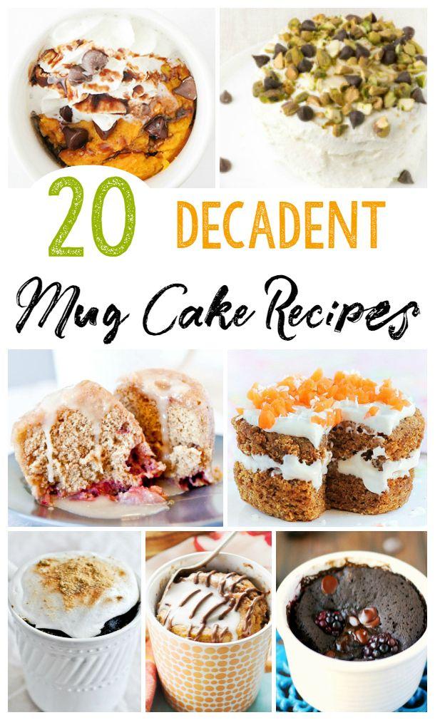 20 Easy Mug Cake Recipes | Feeding Big & Frugal Meals ...