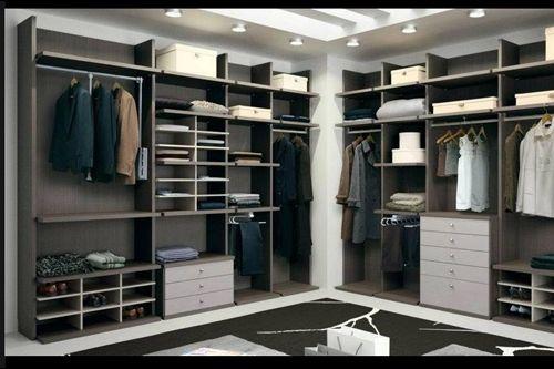 Vestidor a medida en marron armarios pinterest vestidor marr n y armario empotrado - Armarios por dentro ideas ...