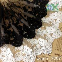 New Lace wholesale  3 Yard/Lot Black White Lace Fabric Net Gauze Embroidery Lace Trim DIY 14-20cm Dress Clothes Accessories