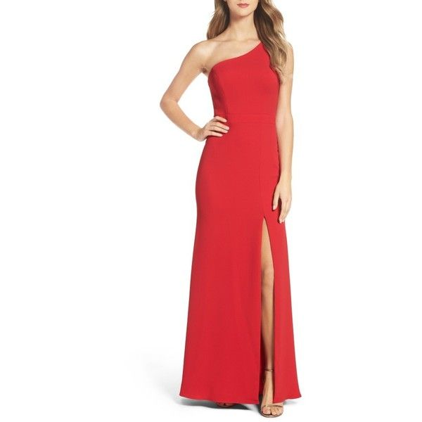 Women\'s Xscape Crepe Gown ($228) ❤ liked on Polyvore featuring ...