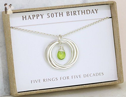50th Birthday Gift Idea August Birthday Gift Sister 50th Gift Wife