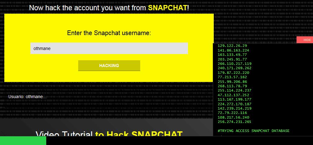 تهكير حساب سناب شات عن طريق اسم المستخدم Snapchat Hacks