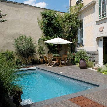 piscine carré bleu jb piscine mon jardin secret Pinterest