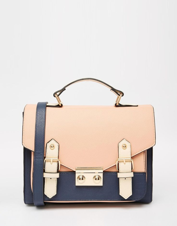 Asos Blocked Satchel Bag A Clutch Bags Online For Womens Ad