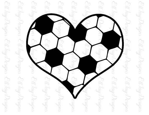 Soccer Ball SVG, Soccer ball heart, Soccer, Soccer