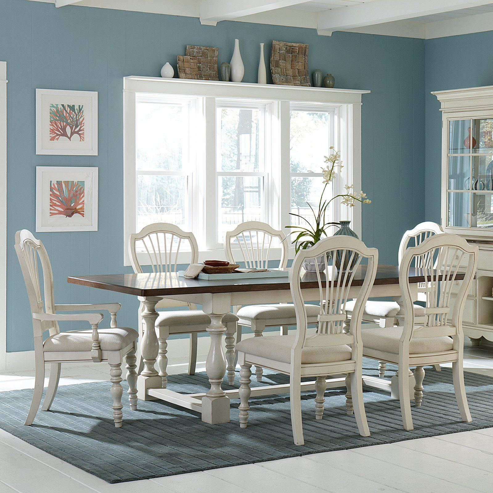 have to have it hillsdale pine island 7 piece trestle