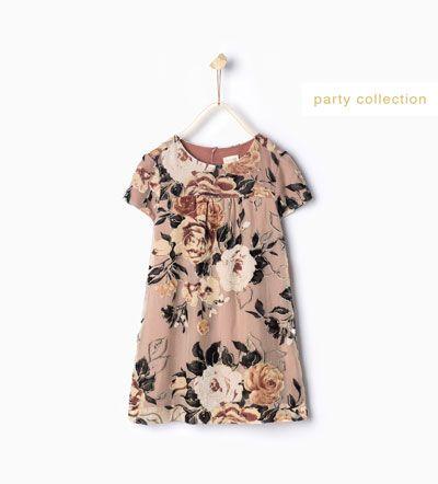 Image 1 of Floral dress from Zara | Kids Fashion | Pinterest