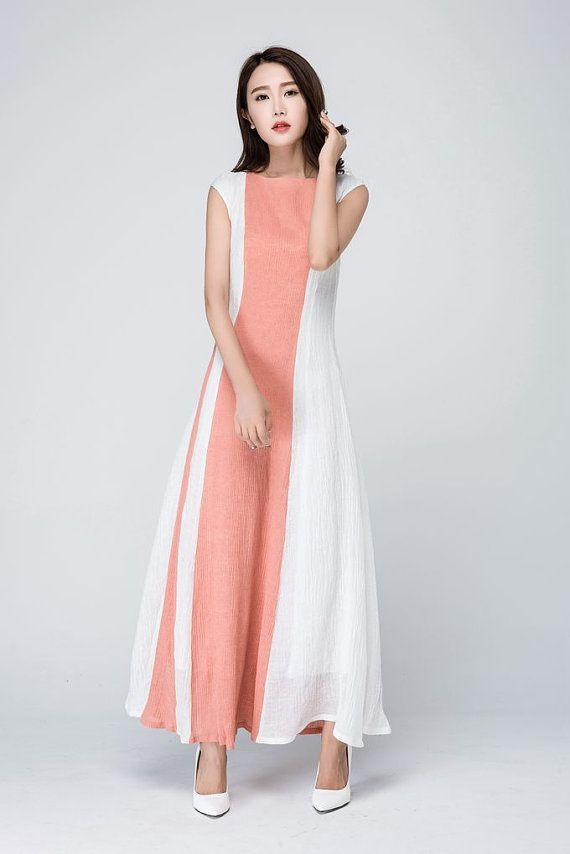 25cf57be3cfcf Wedding guest dress, linen dress, maxi dress, modern dress, block ...