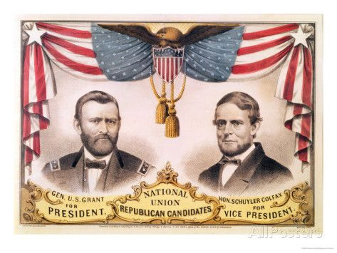 Poster for the Republican ticket of U.S. Grant and ...