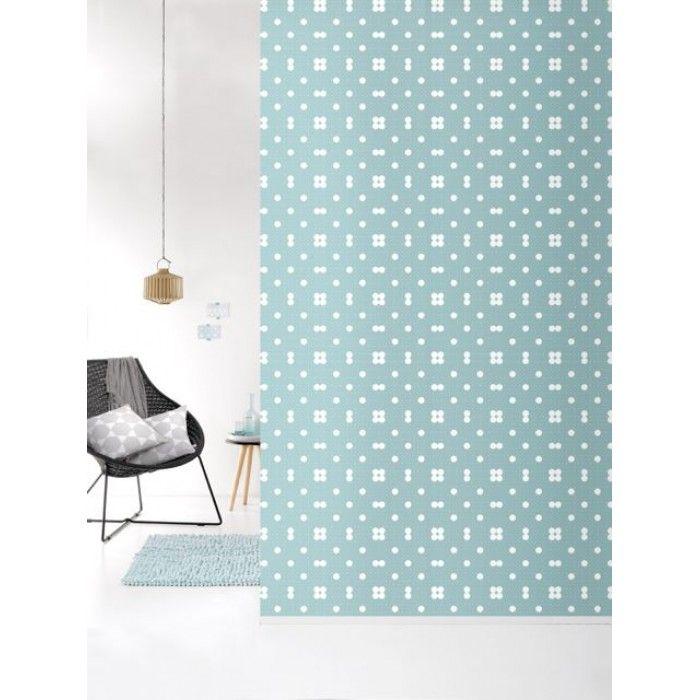 Roomblush behang dots roze blauw grijs pastelgroen for Bloemen behang praxis
