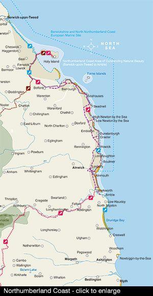 Map Of England East Coast.Northumberland Coast Road Trip Northumberland Coast North East