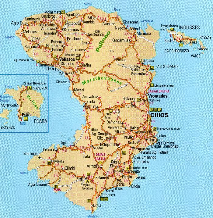 Chios Map my granny was from Chios Travel Pinterest Chios
