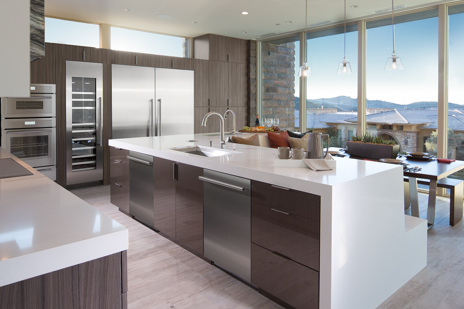 Open Concept With A View Kitchen Design Gallery Minimalist Kitchen Design Open Concept Kitchen