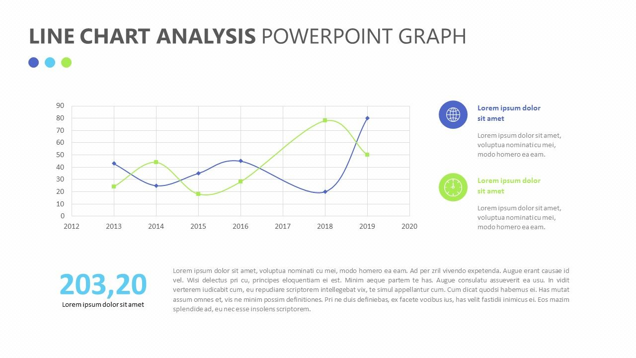 line chart analysis powerpoint graph related powerpoint templates