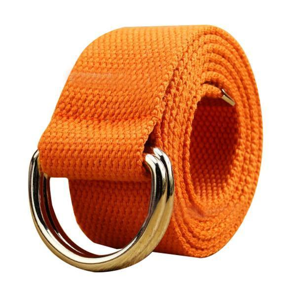 MAKE Hot Casual Unisex D-Ring Cloth Belt Canvas Belt Knitting Canvas  Beltdresskily | Cloth belt, Belt, Mens belts