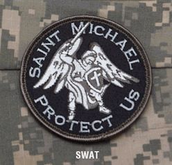 BuckUp Tactical Morale Patch Hook Saint Michael A1