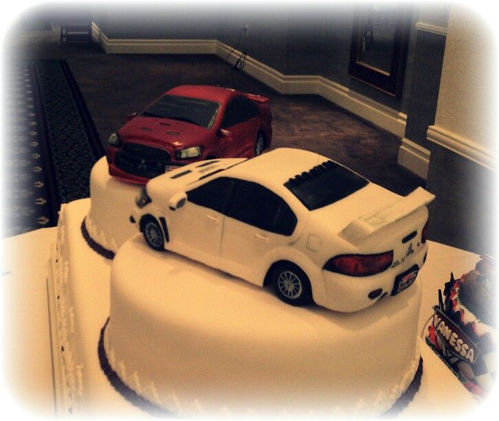 car guy wedding cake topper mitsubishi cars wedding cake my cakes car 12388