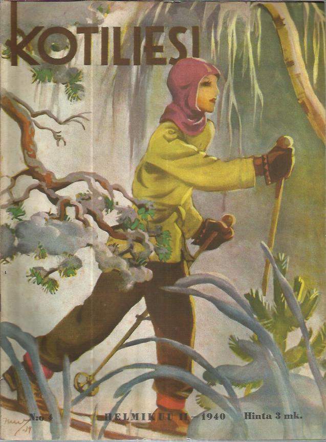 kotiliesi cover by Martta Wendelin, Finland 1940