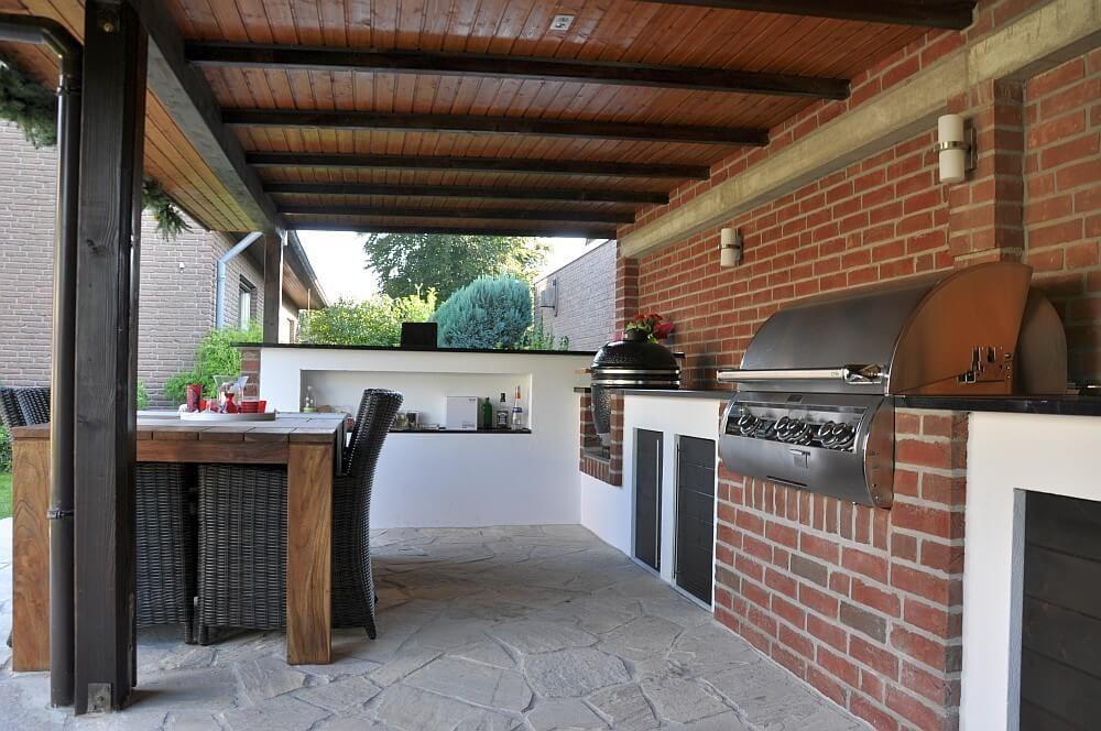 memyself's aussenküche (bbq pit) mit monolith und firemagic ... - Aussen Küche