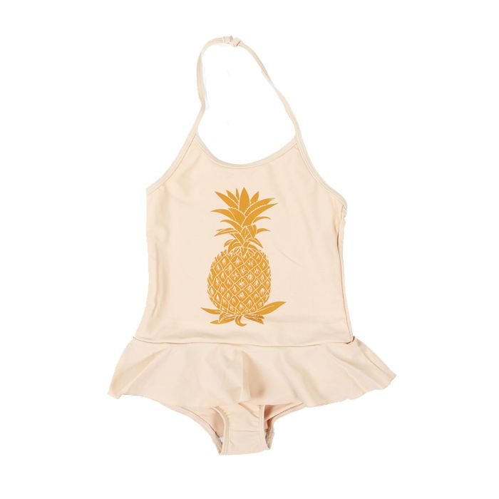 Mini Rodini Pineapple Swimsuit #swimwear #girls in poppyscloset.com