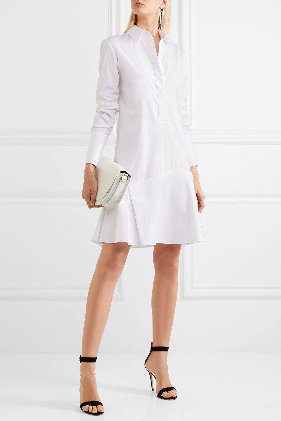 Victoria Victoria Beckham Pleated Cotton Poplin Dress Net A Porter Com Poplin Dress Cotton Poplin Dress Dresses [ 1380 x 920 Pixel ]