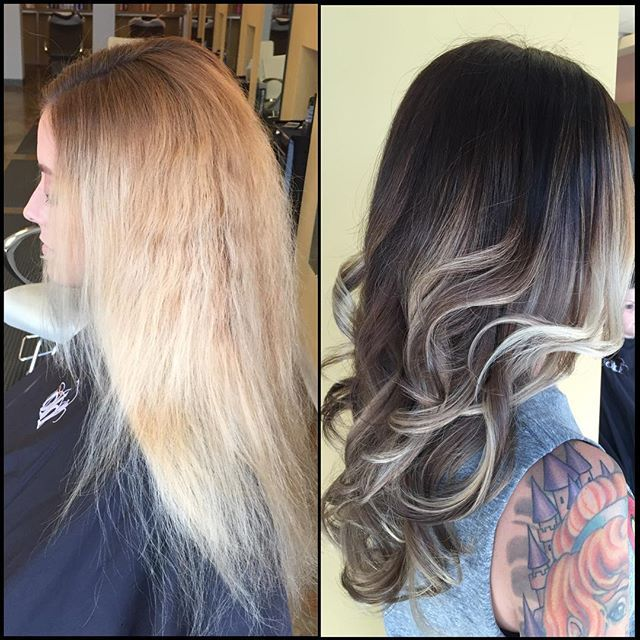 dark blonde, fall 2015, dimension, color correction, balayage ...