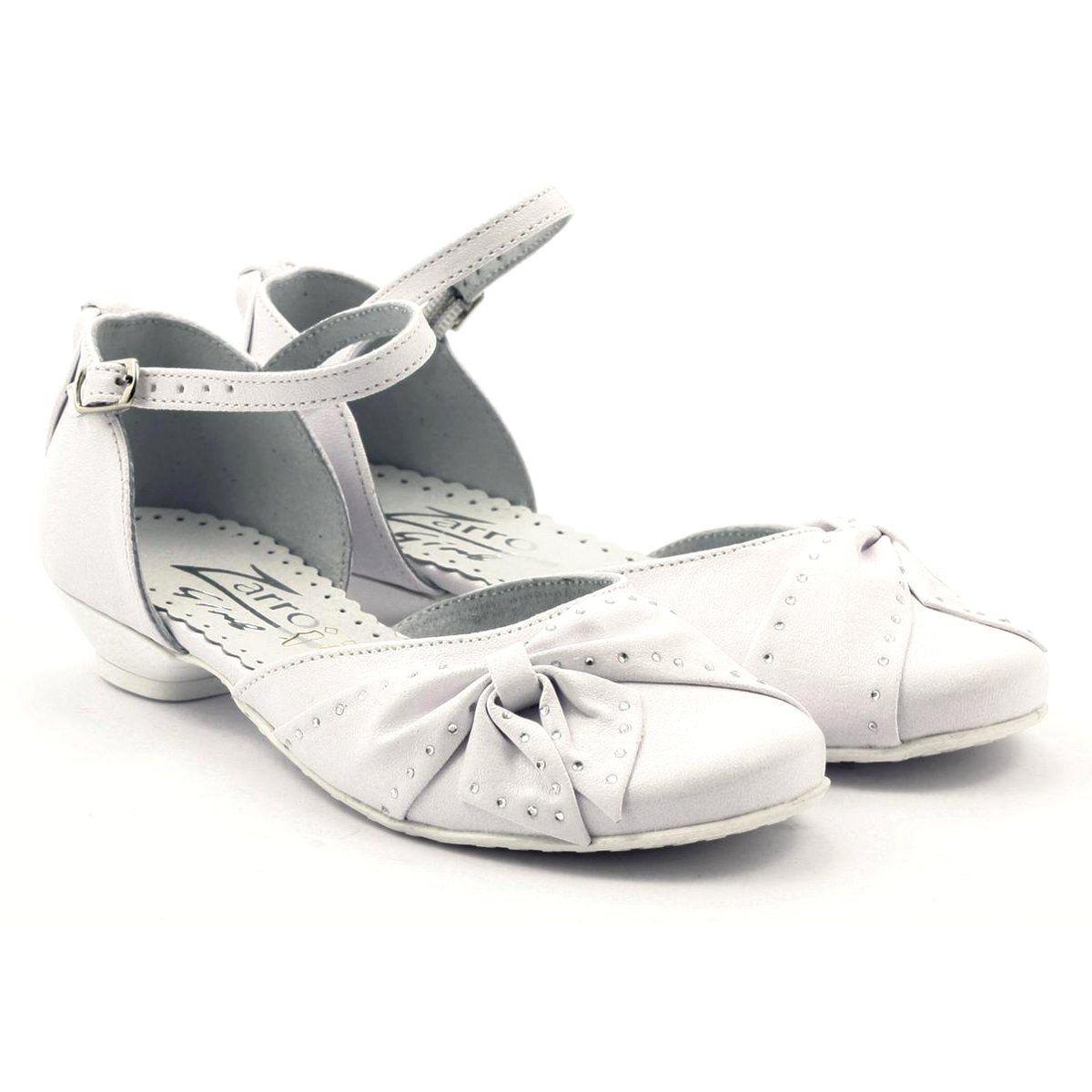 Zarro Buty Dzieciece Czolenka Komunijne Dziewczece Biale Oxford Shoes Womens Oxfords Shoes