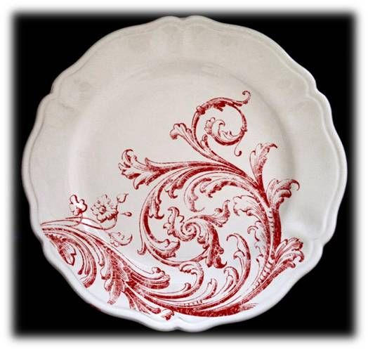 add this beautiful dinnerware set to your table. SIM collection with Red design. Shabby Chic