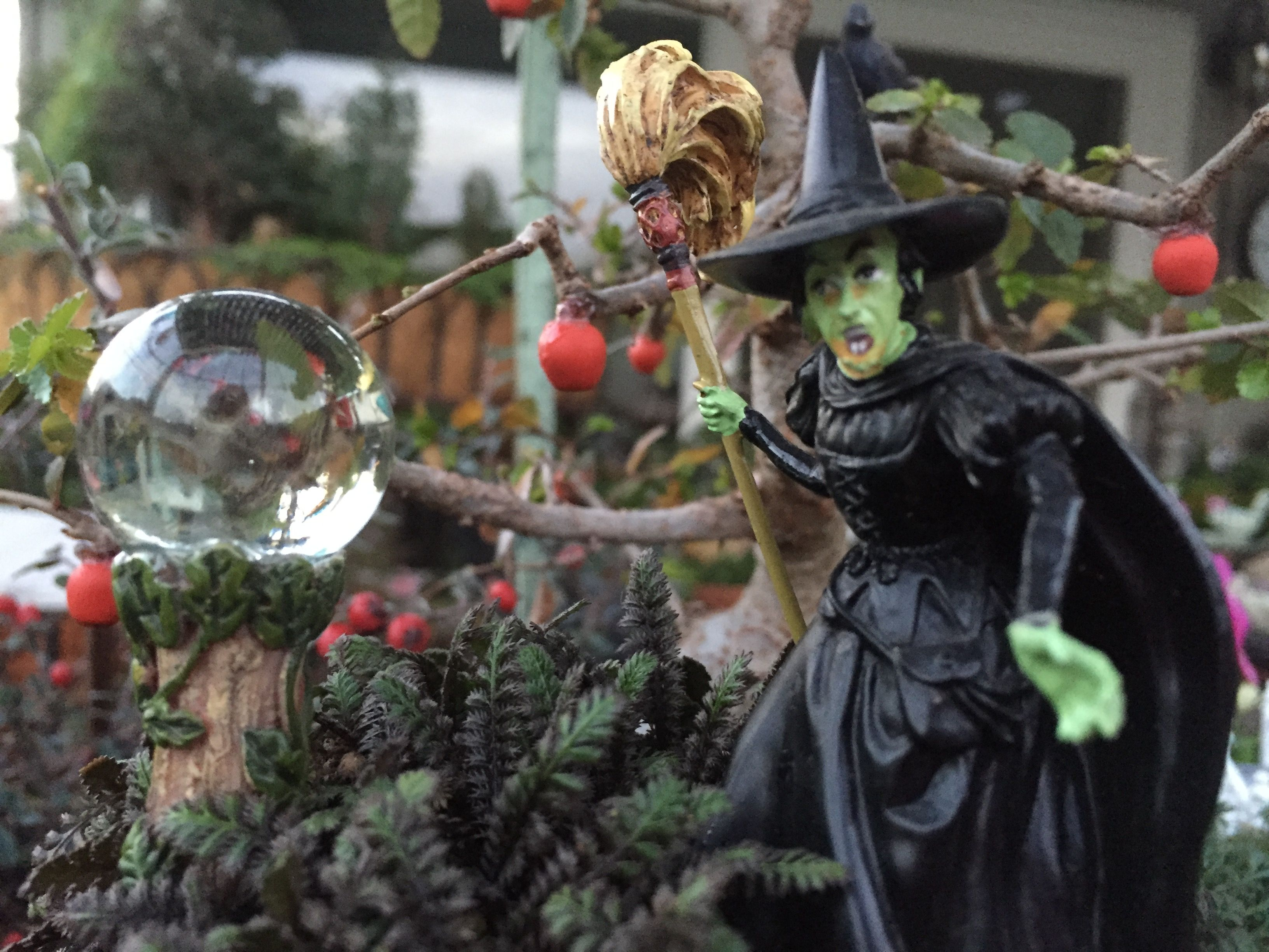 Miniature crystal ornaments - Miniature Fairy Garden Wizard Of Oz In The Forest Are The Wicked Witch