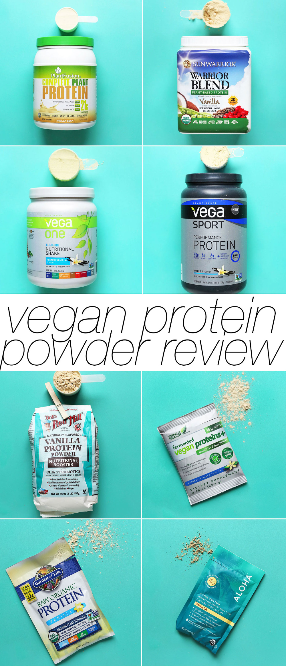 Vegan Protein Powder Review & Comparison| Minimalist Baker Reviews