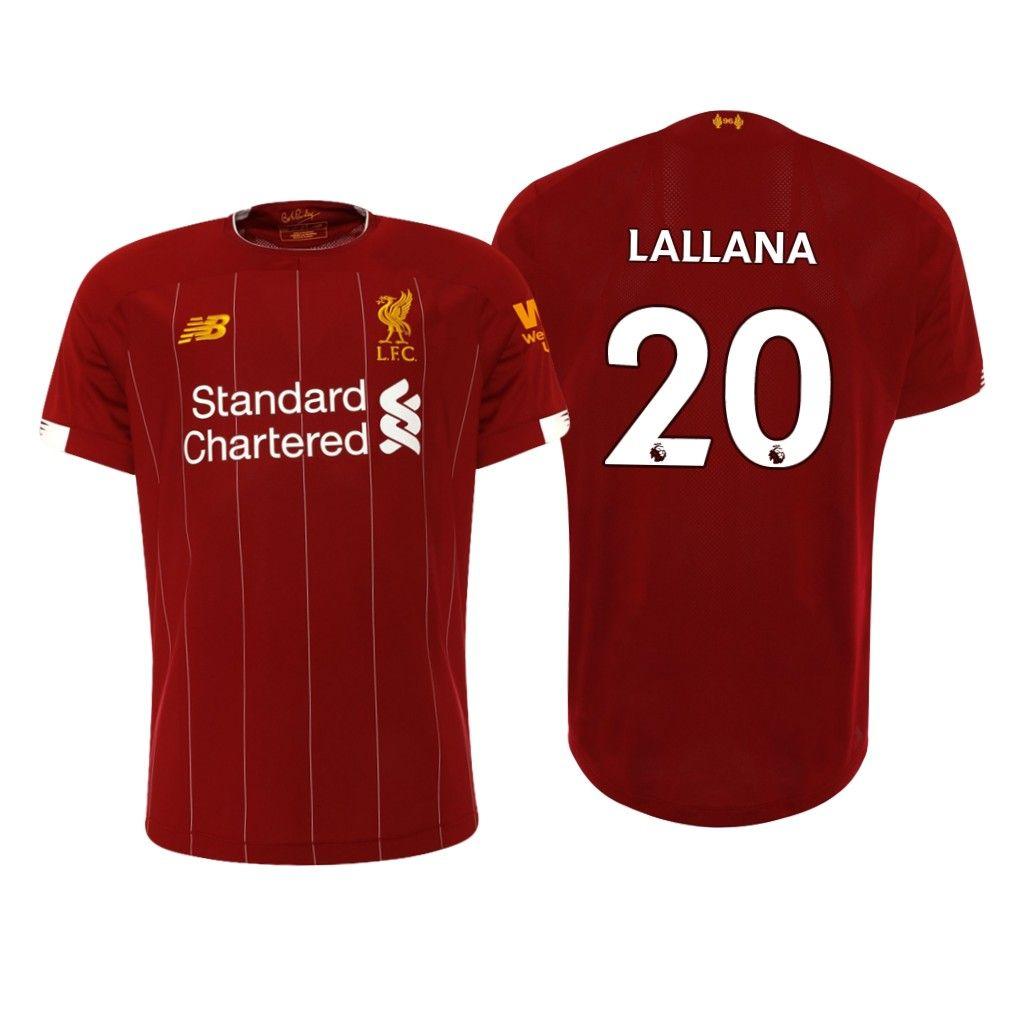 20 Adam Lallana 2019-2020 Liverpool Home Soccer Jersey Shirt ...