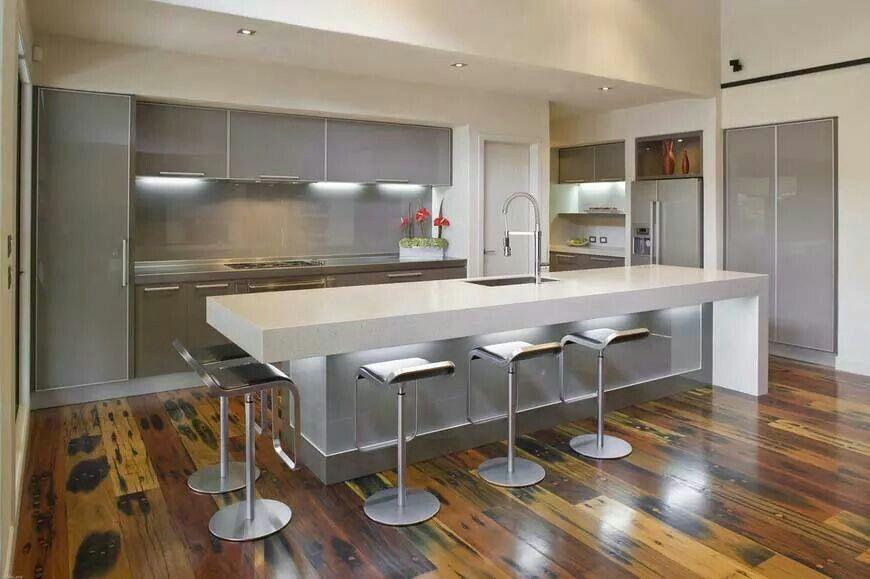 glossy white kitchen  contemporary kitchen island modern