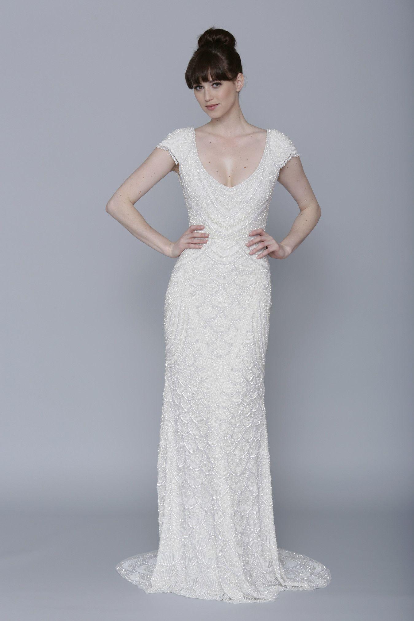 Dresses to wear at a wedding  Theia  Serena  French wedding Inspo  Pinterest  Wedding dress