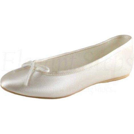 5a3c9c1f0544 Opera Prima by Tappers   Pointers Pure   Precious Dyeable Flat Ballet  Wedding or Bridesmaid Shoes - SALE
