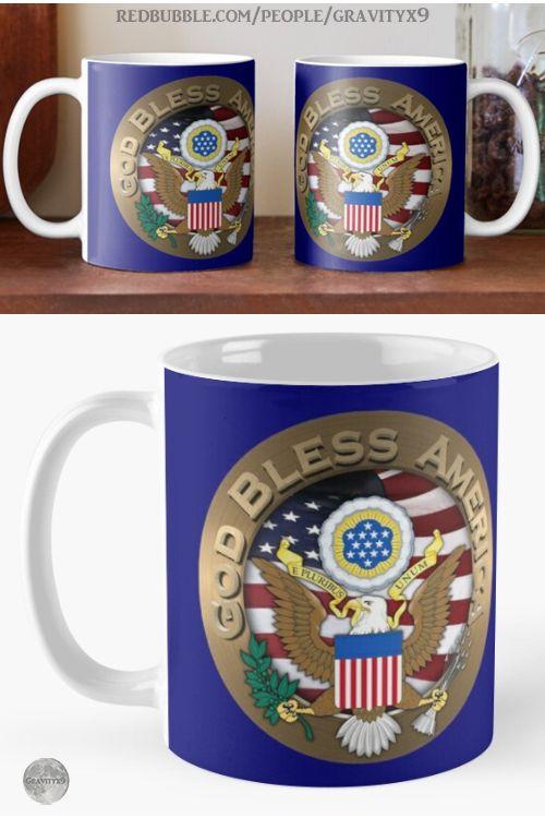 'USA God Bless America' Mug by Gravityx9